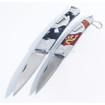 Tactical Folding Hunting Knife 420 Blade Resin Handle