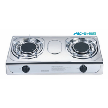 Stainless Steel Table Top Gas Stove 2 Burners