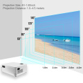 Portable Home Theater LED Projector 1080P Supported 6500 Lux Home Video Movie Projector 140 Inch Display Built-in Speaker