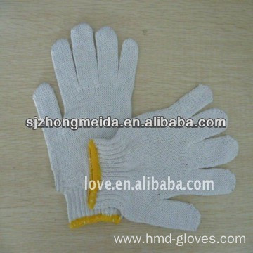 pvc palm dot knitted cotton gloves