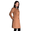 Women's pure cashmere knee length overcoat