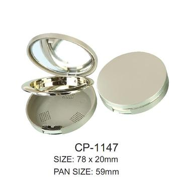 Empty Round Cosmetic Powder Case
