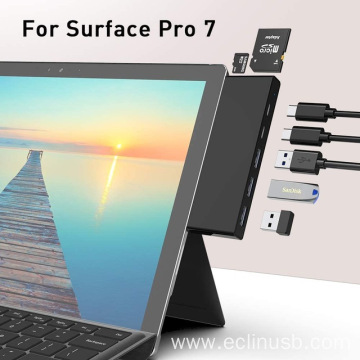 USB Hub for Surface Pro7 Dock Card Reader