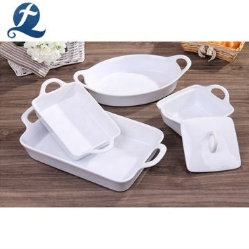 High quality square ceramic tray baking bakeware