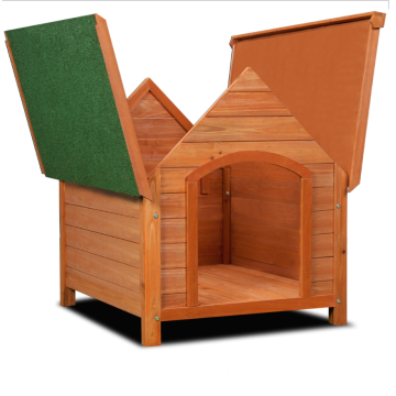wooden out door dog house