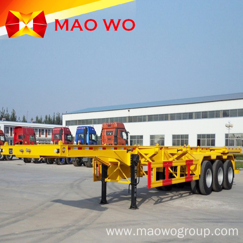 Top Quality 20ft 3 Axles Semi Skeleton Trailer