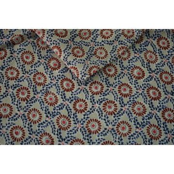 100% Viscose Twill Crepe Printed Fabric