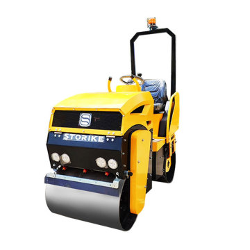 Asphalt Mini Vibratory Road Rollers 1 Ton Double Drum