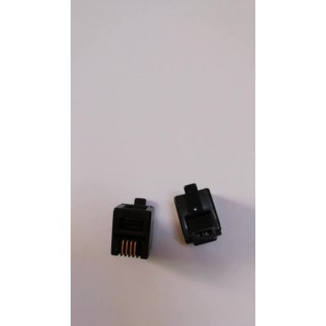 6P4C plug  RJ11 connector Black color