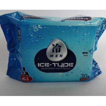 Portable Ice Cooling Adult Alcohol-free Deodorant Body Wipes