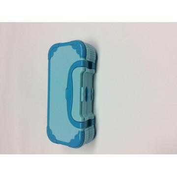 Plastic three-layer portable pencil box