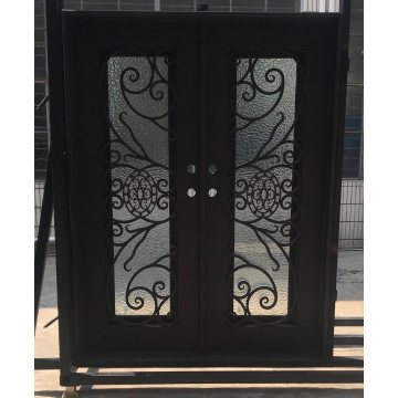 Security Wrought Iron Entry Doors
