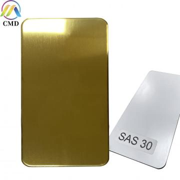 3MM Mirror Gold/Undercoat Aluminium Composite Panel