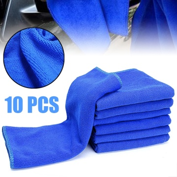 10Pcs Microfibre Cleaning Auto Soft Cloth Washing Cloth Towel Duster 30x30cm Car Home Cleaning Micro fiber Towels cloth