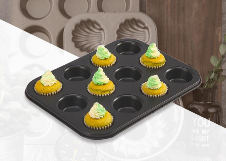 12 cavity muffin pan-black (7)