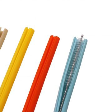 Flexible Straws with Cleaning Brushes