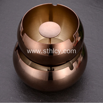 Factory Direct Stainless Steel Drum Shaped Windproof Ashtray