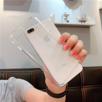 1:1 Original Official Style Clear Phone Case For iPhone 8 7 6 6s Plus HD Transparent ShockProof Cover For iPhone X Xr Xs Max