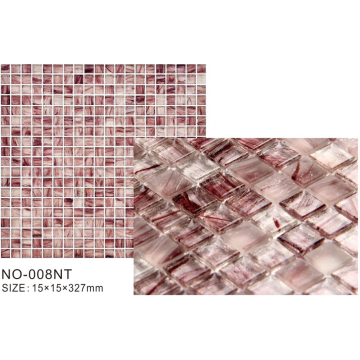 Rose color frosted modern mosaic tiles