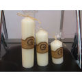 Ivory white church candle