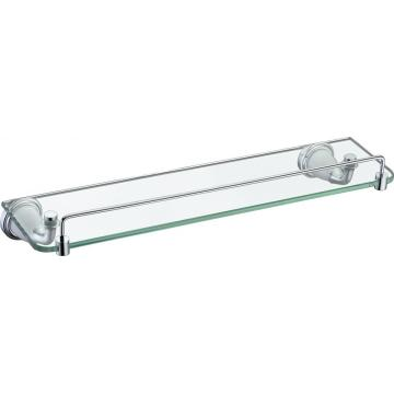 With two holder clear temper glass shelf chrome