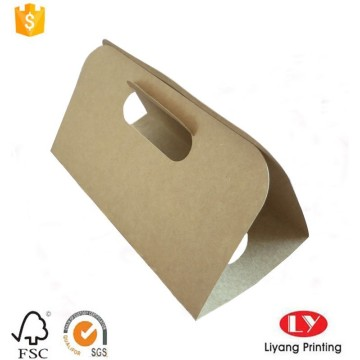 Brown kraft paper carrying cup holder