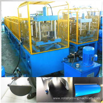 color steel rain gutter roll forming machine