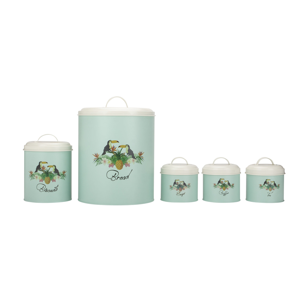 Gourmet Kitchen Storage Canister 5 Piece Set
