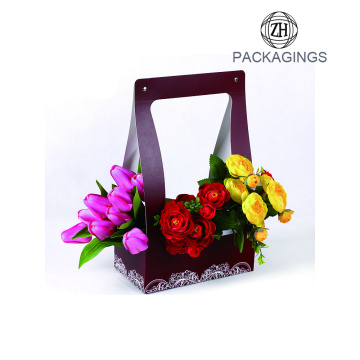 Custom design paper flower gift box packaging