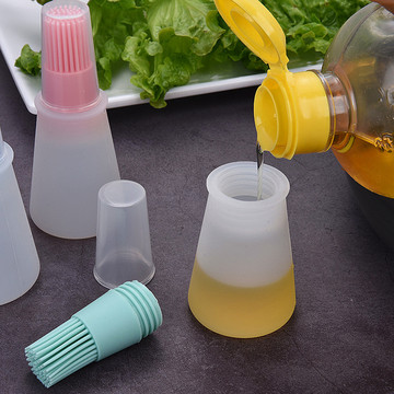 3 Colors high temperature resistance oil bottle high quality food grade silicone Oil Brush Cake Butter Bread Kitchen Tools