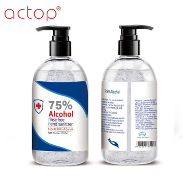Liquid 75% Alcohol Gel Hand Sanitizer