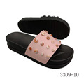 Black and pink button shoes