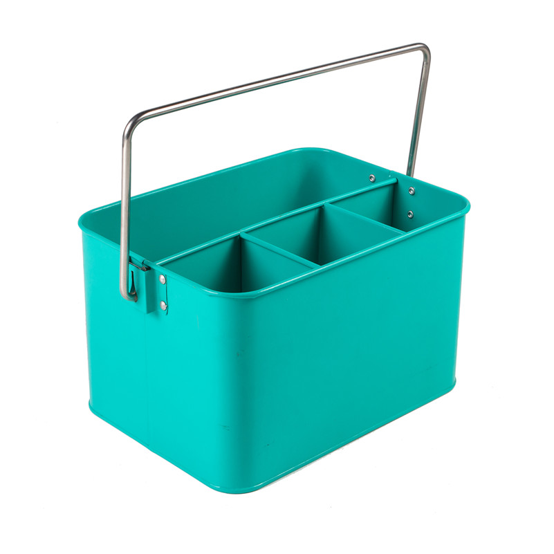 Square Metal Utensil Holder Tool Caddy