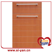 pvc vacuum pressed wood cabinet doors
