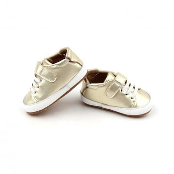Environment Friendly Gold Bling-Bling Casual Shoes