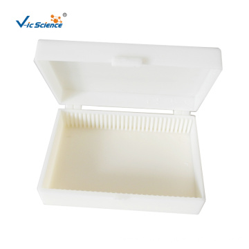 White Plastic Microscope Slides Storage Boxes​