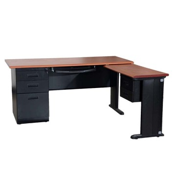 Metal Structure L Shaped Office Executive Desk