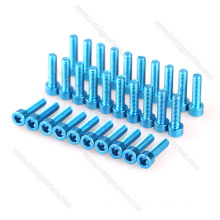 Dhammaan cabirka Aluminium Hexagon Socket Cap Head Screw