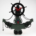 Black Anchor Gear Clock For Decoration