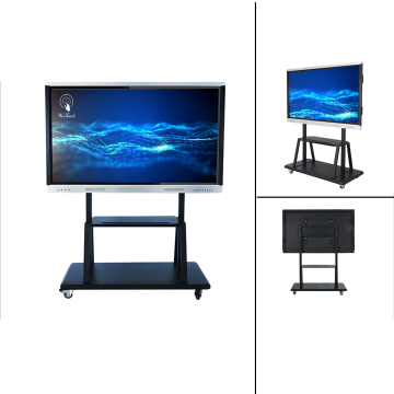 Painéal Idirghníomhach 75 Inches Education With Stand Mobile