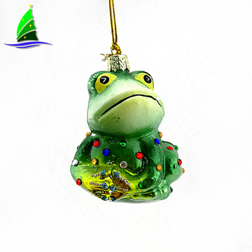 Hanging Glass Frog prince Ornament decoration for birthday