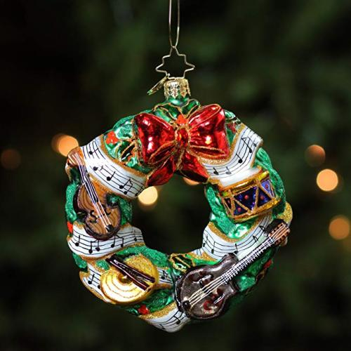 Christmas Wreath Shaped Christmas Glass Ornaments