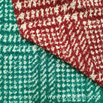 Boucle fashion jacquard plaid design fabrics