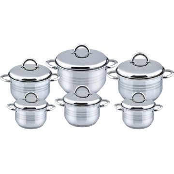 12pcs cookware set with ss lid