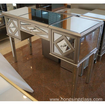 Antique Gold MDF Mirrored Dressing Table