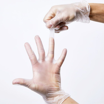 pvc biodegradable powder free vinyl disposable gloves acids slkals examination