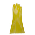 Yellow PVC coated gloves jersey liner 35cm