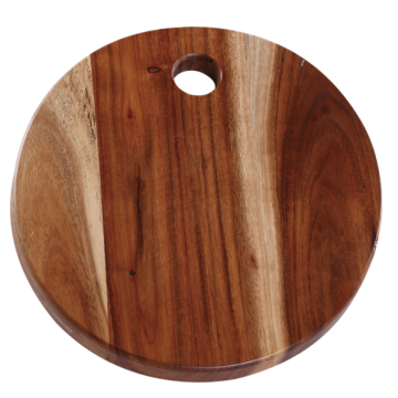 Round wooden chopping board with hole