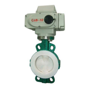 Electric PTFE Fluorine lined Wafer Butterfly Valve