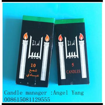 10pcs Libya paraffin black box wax candles